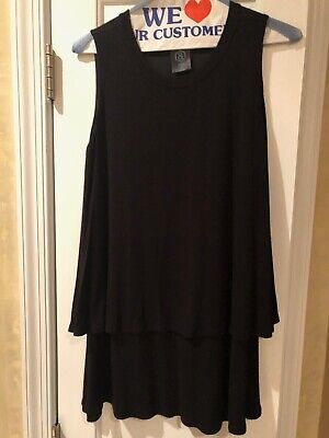 Agnes and Dora Tiered Tunic, Black, Size S, Preowned - Worn Once or Twice