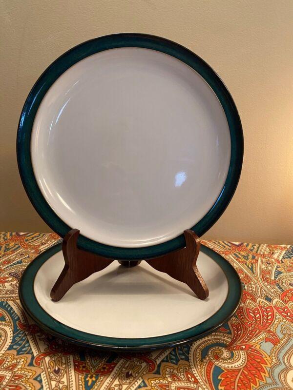"THREE Denby GREENWICH Dinner Plates (3) 10 3/8"" EXCELLENT"