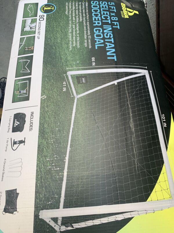 Brava 5ft x 8ft Select Instant Inflatable Soccer Goal -Carry Bag, Air Pump, Inc.