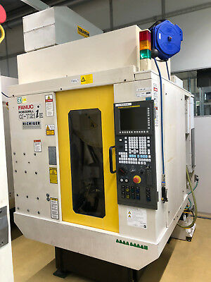 2005 Fanuc Robodrill A-t21ie 5 Axis Cnc Vertical Machining Center 24k Spindle