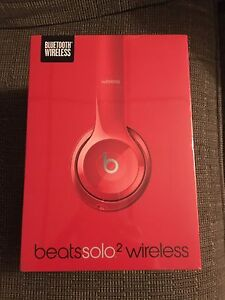 Apple Dr Dre Beats Solo2 Wireless Bluetooth Headset Red - New