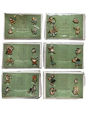 DISNEY MICKEY MOUSE ADVENT CALENDAR PIN SET SERIES RARE