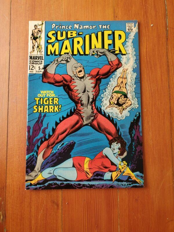 NM High Grade Sub-Mariner 5 1st Tiger Shark Crisp And Unread