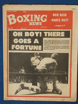 Boxing News Magazine   6 7 79   Dave Green Cover