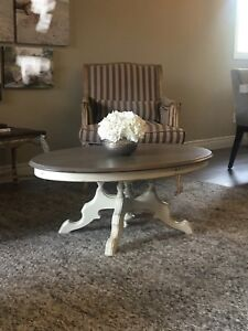 REDUCED! Refinished Antique oval coffee table