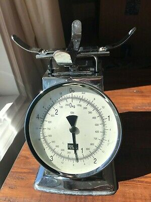 Vintage Retro Style Mechanical Good Cook Measuring Food Weight Scale. Chrome.