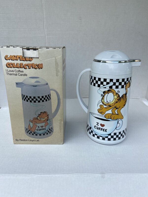 "Rare Vintage GARFIELD Collection ""I Love Coffee""  Thermal Carafe With Box"
