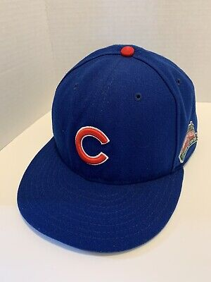 New Era MLB Chicago Cubs Authentic Game On-Field 59FIFTY Fitted Hat Size 7 3/8 Authentic Fitted Hat Game