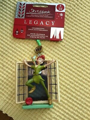 Disney 2018 Peter Pan and Tinkerbell Legacy Sketchbook Ornament New with tags