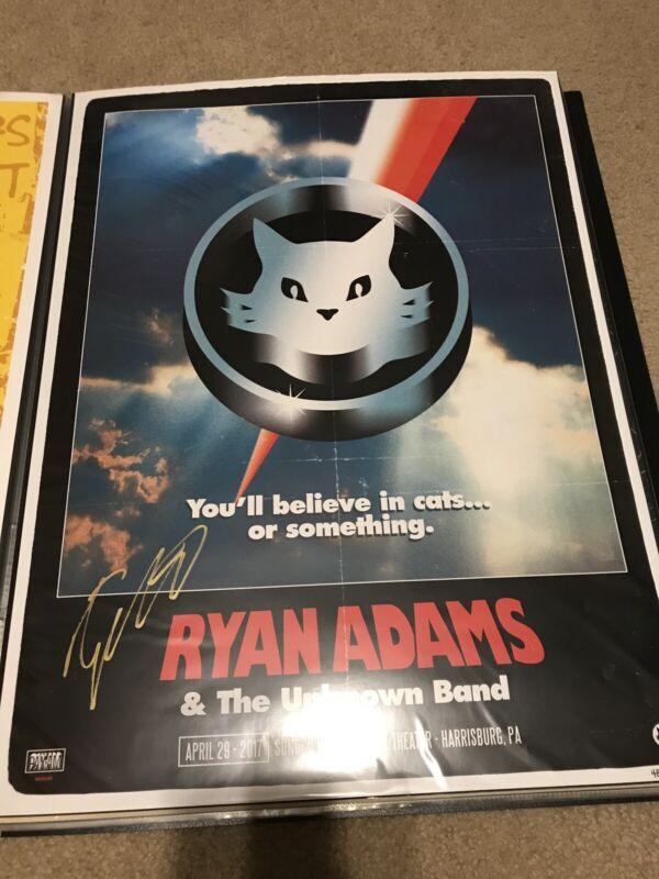Ryan Adams 2017 Harrisburg PA Signed Poster