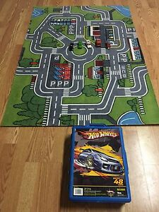 Car carpet plus  hot wheels box full of cars
