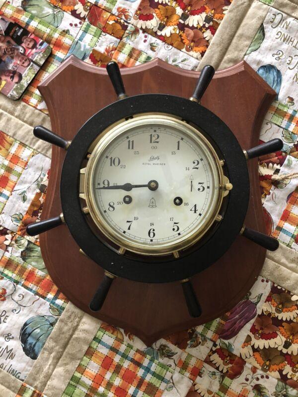 VINTAGE SCHATZ ROYAL MARINER GERMAN 8 DAY SHIP CLOCK COLLECTIBLE MARITIME