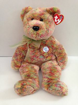 "TY Beanie Buddies SPECKLES Ty Store EXCLUSIVE Ty-Dye Bear 2001~14"" Beanbag Plush"