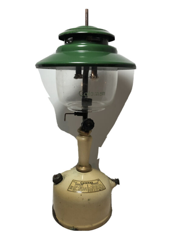 RARE Vintage Coleman Model 139 Lantern Gasoline Or Kerosene Pyrex Glass