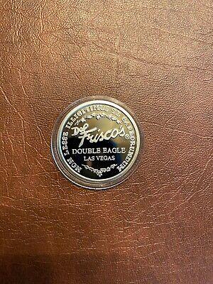 Rare Del Frisco's .999 Pure Silver Double Eagle Coin - Las Vegas