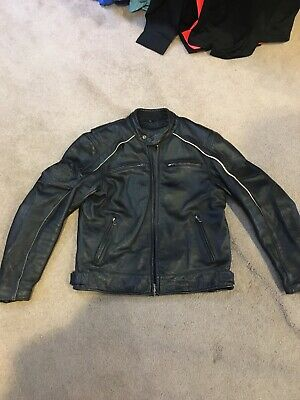 Harley Davidson Willie G Skull Black Leather Motorcycle Jacket Mens L 98099-07VM