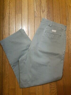 Mens Polo Ralph Lauren Gray Chino Pants Straight Fit Size 34 x 29
