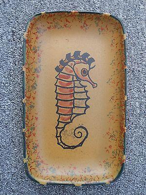 Honiton England pottery seahorse dish / tray