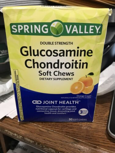 Spring Valley Glucosamine & Chondroitin Soft Chews, 50 count