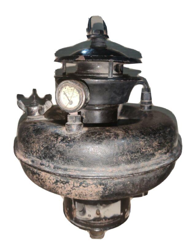 WW II HASAG POLAR HANGING gas LAMP Hugo Schneider A.G Leipzig Germany LOGO LABEL