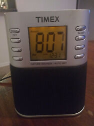 Timex T307S Radio Alarm Clock with Nature Sounds Dual Alarm MP3/AUX 3.5 mm Jack