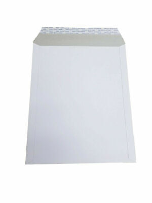 200 - 6x8 6x8 Stay Flat Rigid Mailer Cardboard White Envelope Photo 350gsm