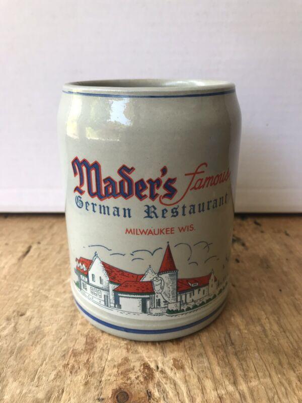 Vintage Advertising BEER STEIN MUG Mader