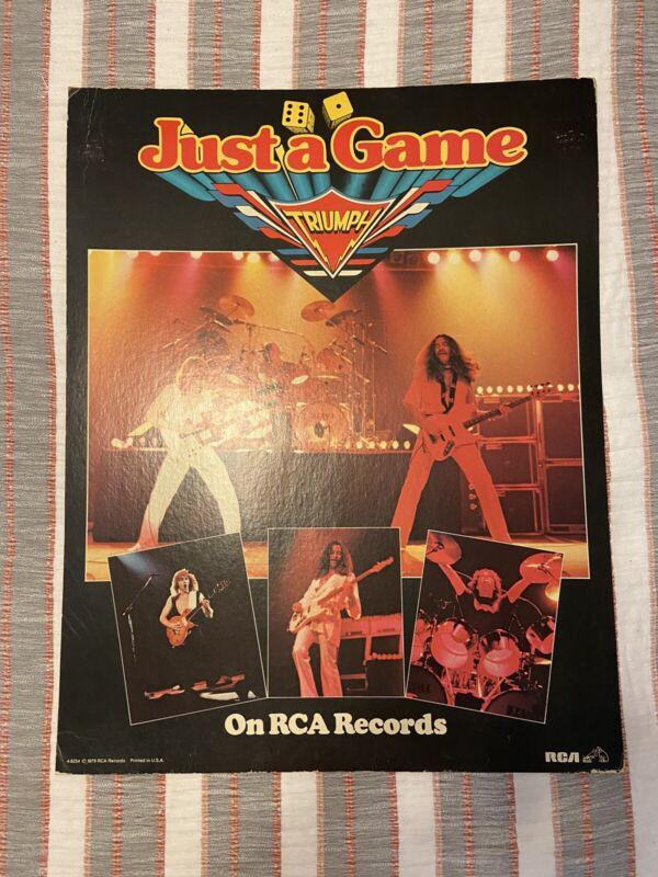 Triumph Just A Game PROMO poster Standee Display Original 1979 HYPER RARE!