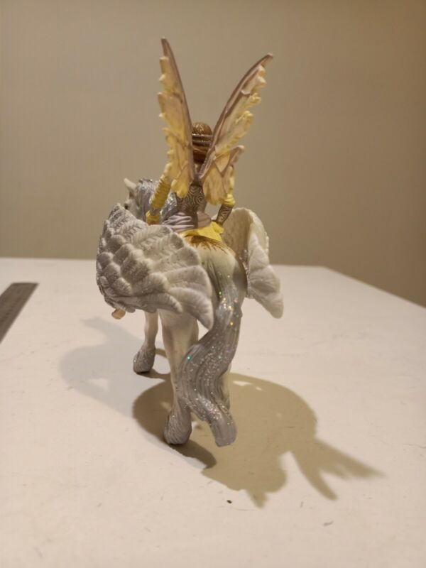 ✓SCHLEICH 70402 Bayala Sera on Horseback Elf Fairy sun Pegasus 73527 RETIRED EUC