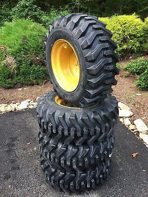 4 New Camso 12-16.5 Skid Steer Tires Rims For Caterpillar - Cat - 12x16.5