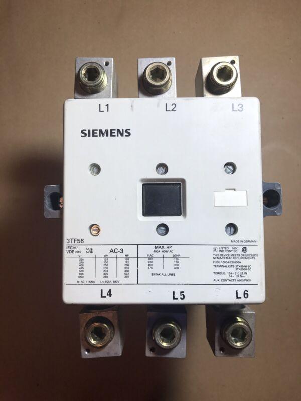 Siemens motor starter 3TF56 230V/150HP  480V/300HP