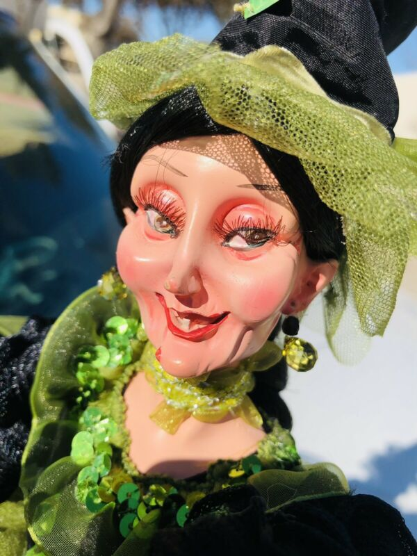 """23"""" Witch Doll Green Dress"""