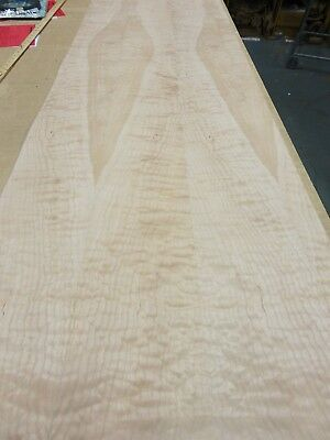 Quilted Curly Maple Wood Veneer Sheet 24 X 96 With Paper Backer 140 Thick Aa