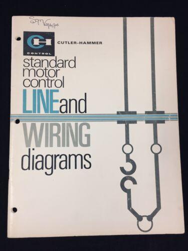 VINTAGE CUTLER-HAMMER STANDARD MOTOR CONTROL, LINE & WIRING DIAGRAMS BOOKLET