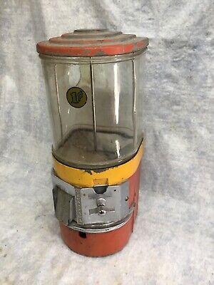 Vintage Vendorama 1 Cent Gumball Machine Parts Or Repair Restoration Working