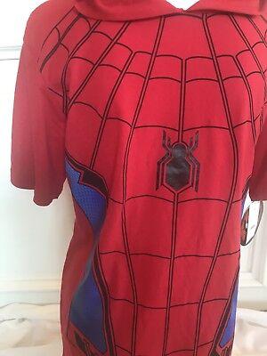Red Spider Man Kostüme (New Marvel Spider-Man Costume Tee Shirt Sz S Red Mask Hood Red)
