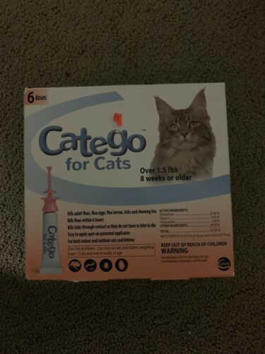 Catego Flea And Tick Control For Cats Over 1.5 Lb/8 Weeks 6 Pack - $39.99