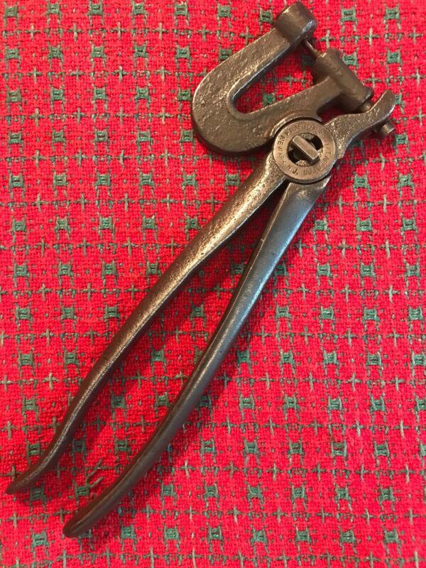 Vintage Kraeuter & Co Leather Punch Saddle, Cobbler, Leather Tools USA Newark,NJ