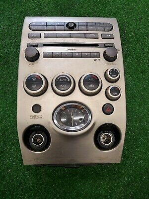 Infiniti QX56 04-06  CD SAT Radio Player Climate Control Bezel BOSE 27500ZC100 Silver Desktop Receivers
