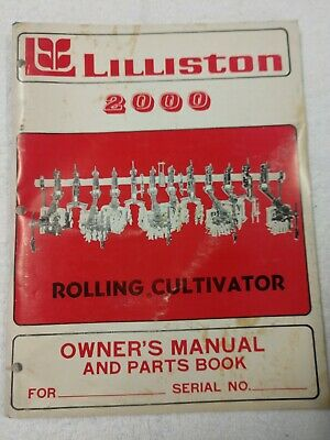Lilliston 2000 Rolling Cultivator Owners Manual And Parts Catalog 1j-2575-x15