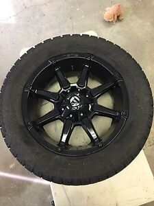 """20"""" Fuel Coupler wheels with Toyo AT II 305/50R20"""