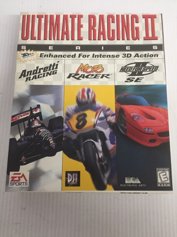 EA Sports PC CD ROM Ultimate Racing II Series, Original Factory Box