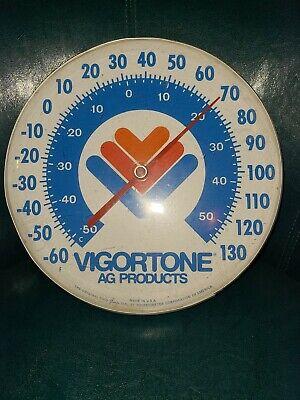 Vintage Vigortone AG Farm Products Advertising Thermometer