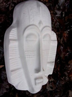 Tiki face mold plastic concrete plaster mould tropical
