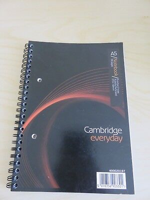 A5 Notebook Spiral bound  Cambridge Everyday
