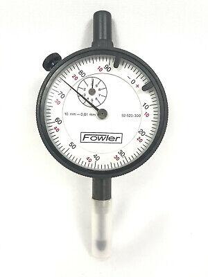 Fowler Dial Indicator 10mm Range .01mm Reading 0-100 0-50-0 Grad. 52-520-300