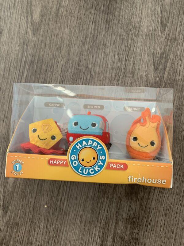Hallmark Happy Go Luckys FIREHOUSE Series 1 #2of 24 Happy Pack Plush NIB