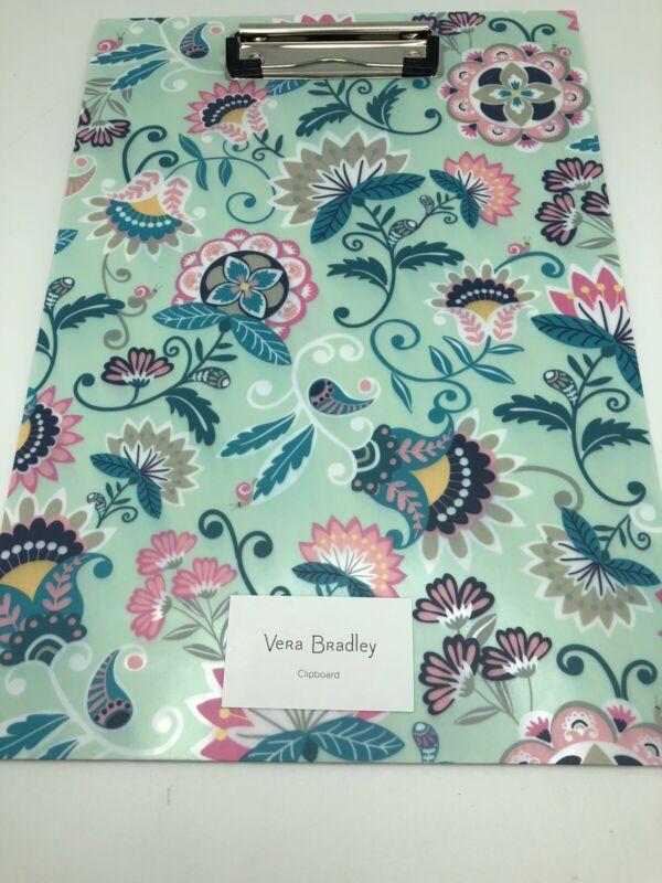 Clipboard Mint Flowers Vera Bradley