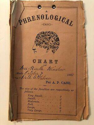 1867 Handwritten Phrenological Examination of a Woman
