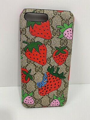 Gucci Case For Iphone 7 Plus 8 Plus With Logo Strawberry